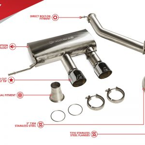 "Unitronic 3"" Cat-back Exhaust for VW Mk6 Golf R"