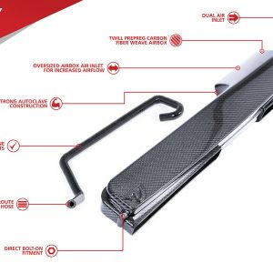 UNITRONIC CARBON FIBER AIR DUCT FOR 1.8/2.0 TSI GEN3 MQB (UH008-INA)