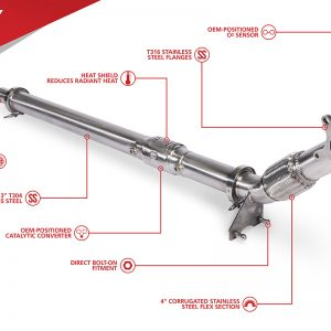 "Unitronic 3"" Downpipe for 2.0 TSI Gen1 (FWD)"