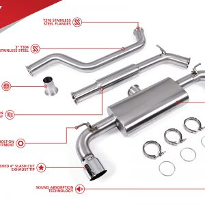 UNITRONIC CAT-BACK FOR MK7 GTI MQB (UH025-EXA)